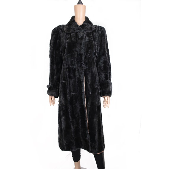 1930s midnight black mole fur coat {Real fur/vinta