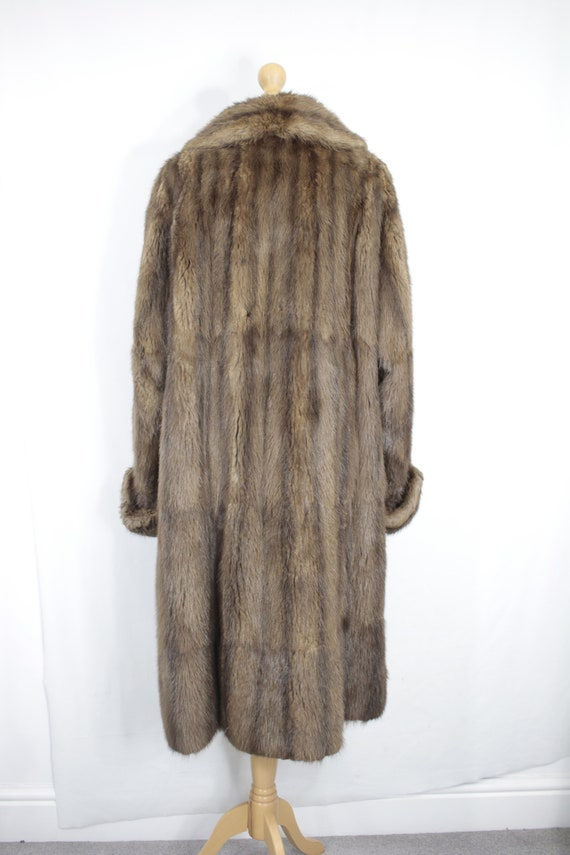 1950s-1960s brown musquash fur coat {Vintage fur … - image 5