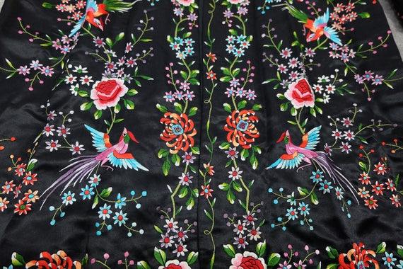 Vintage black embroidered coat {vintage embroider… - image 10