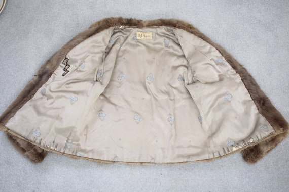 1950s-1960s brown musquash fur coat {Vintage fur … - image 7