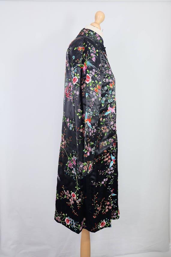 Vintage black embroidered coat {vintage embroider… - image 3