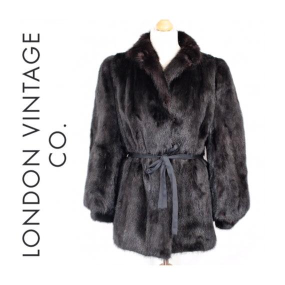 1980s-1990s black mink fur coat {Vintage mink fur/