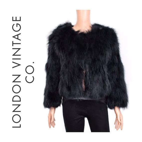Vintage black fox fur coat {Vintage fox fur/real f