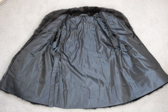 1980s-1990s black mink fur coat {Vintage mink fur… - image 6