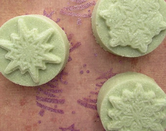 Bay (laurel) soap in Christmas snowflake shape for sensitive or greasy/mixed skin