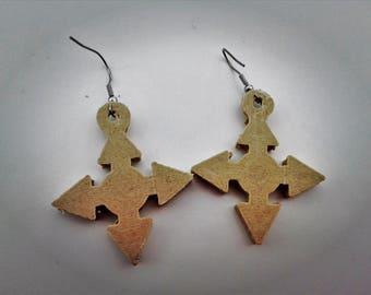 ARROWS Earrings   Wooden   3d Printed Wooden Earrings