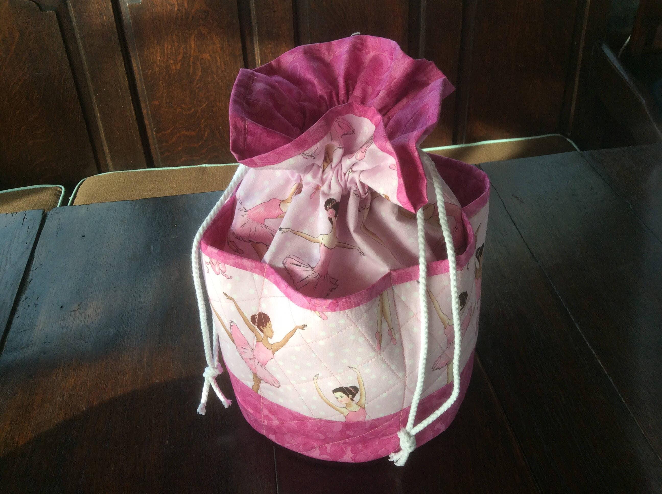 handmade handmade handmade ballerine cordon sac sac rose. multi - purpose sac. dance sac. chaussure sac patchwork sac. cordon tote. ballerine tote.gift. d17b2f