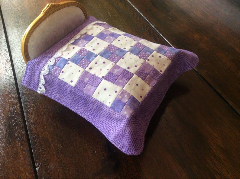 7//11//18 1//12 Handmade Single Bed size 17 patterns Dolls House Bedding Set