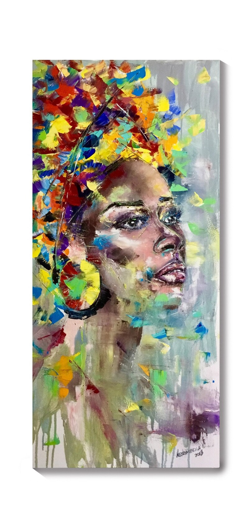 Voorkeur Afrikaanse vrouwen portret op canvas Afrikaanse schilderij | Etsy @SS19