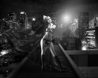 Carmen Rox - Fantasy Print / Poster - B&W
