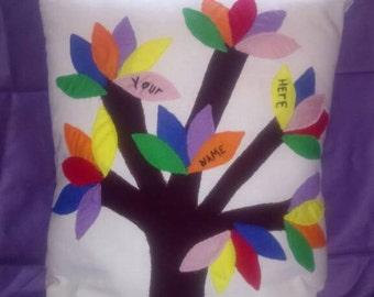 Family tree cushion made to order
