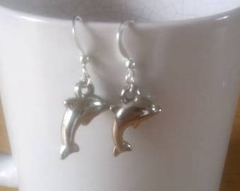 cute boho style dolphin earrings
