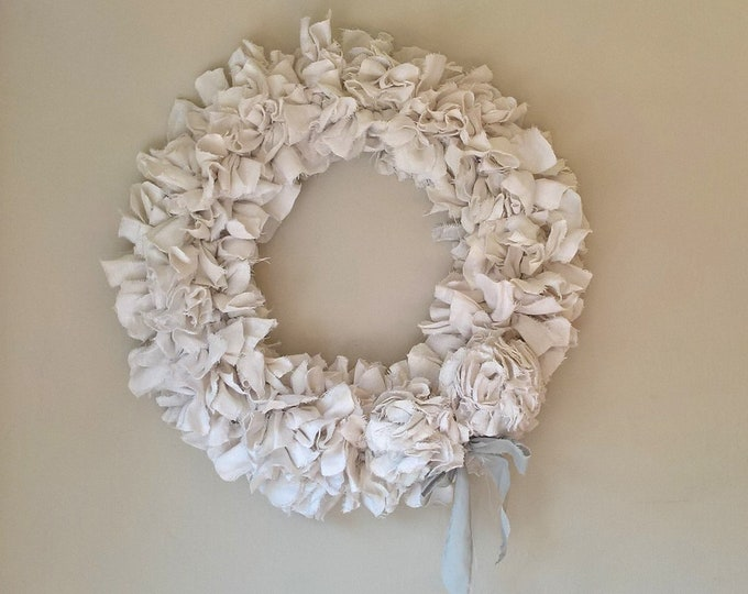Romantic Rag Wreath  35cmx 35cm