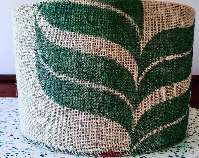 Coffee sack lampshade made to order