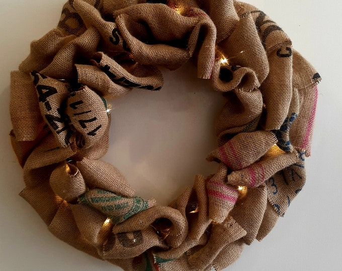 "Coffee Sack Wreath 20"""