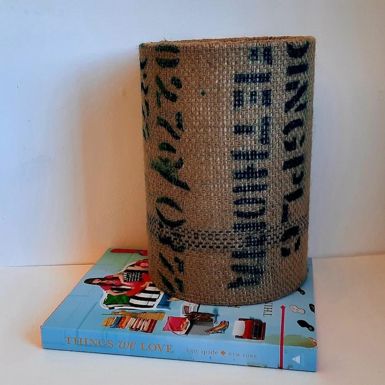 Coffee sack lampshade 20cm x 28cm image 0