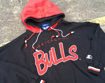 2678475fc14e95 VTG Starter Chicago Bulls Thrifted by 90s TPT Sweater Shirt Hoodie 90s  Michael Jordan Rare