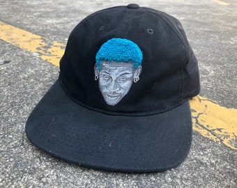 5adc06e64e212 VTG NIKE Dennis Rodman Blue Hair Snapback Cap 90s Thrifted by 90s TPT