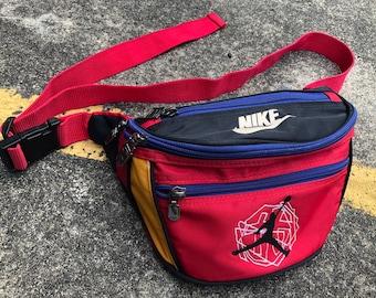 53447904f762 VTG NIKE Michael Jordan Multicolor Crossbody Waist Bag Pusher Bag 90s  Thrifted by 90s TPT