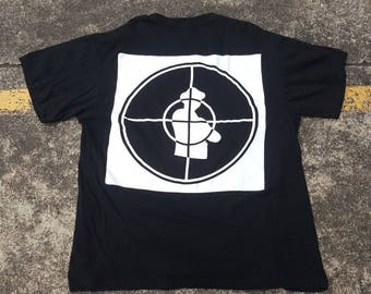 f8825d58cd39a6 VTG Public Enemy T-Shirt Double Sided Big Logo 90s Thrifted by 90s TPT