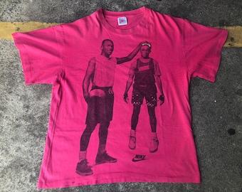 7e14c267328e3f VTG Nike Michael Jordan Spike Lee The Best on Earth The Best on Mars T-Shirt  Thrifted by 90s TPT