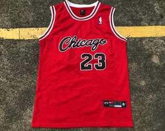 c1d4849d39d56e VTG Nike Michael Jordan Chicago Bulls Jersey Thrifted by 90s TPT