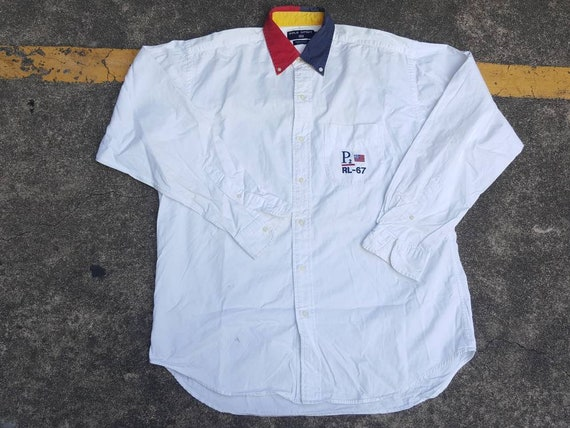 VTG POLO Ralph Lauren P-RL 67 Sportsman 1992 1967 Button Up Shirt Thrifted  by 90s TPT. Guardar como favorito 31d72c74c02