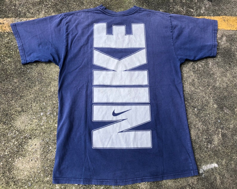 44ec3617 VTG NIKE Big Vertical Spell Out 90s T-Shirt Thrifted by | Etsy