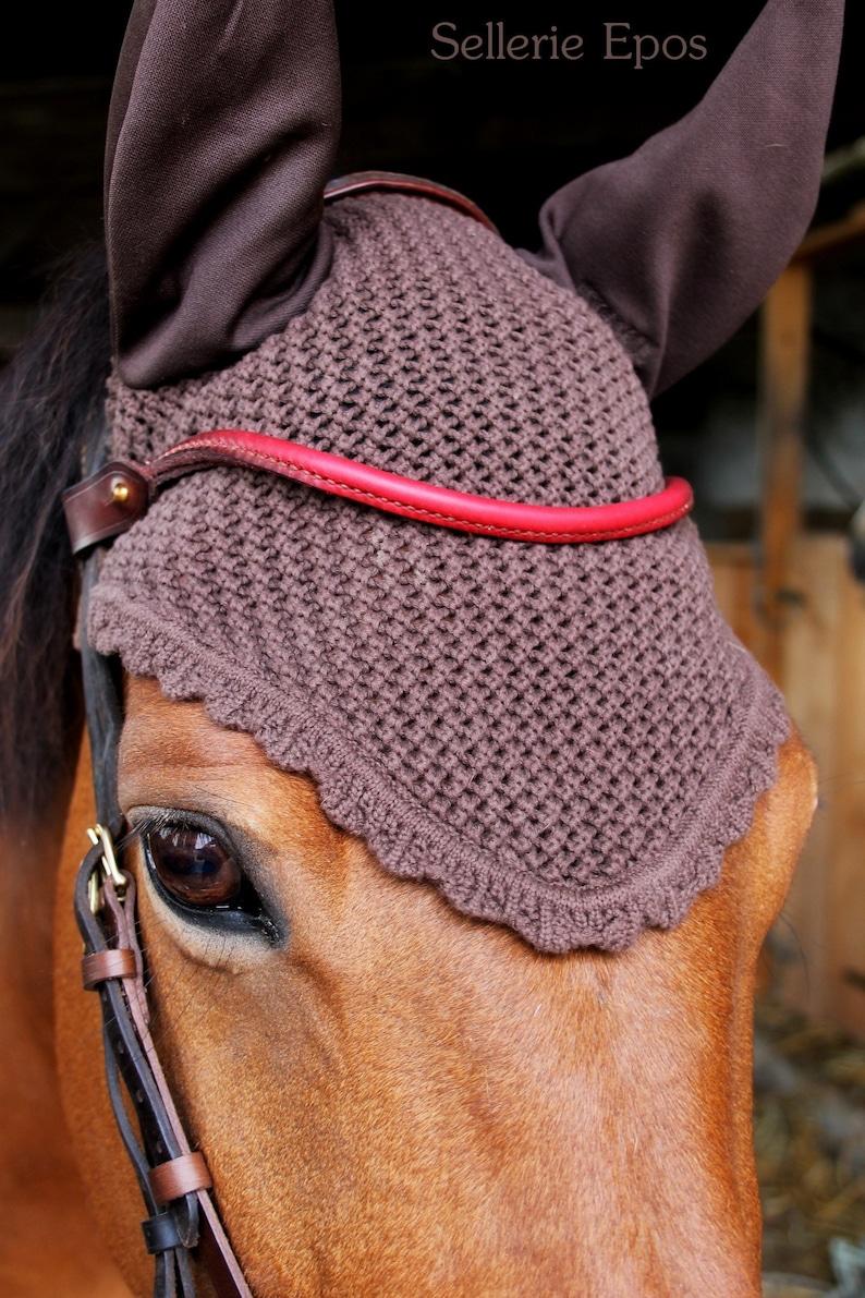 Handmade Red Horse browband