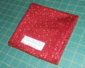 Holiday Classics BTY Quilting Treasures Gold Wine Scroll Red