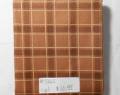 Fabric- 1 yd piece- Brown Plaid Silent Flight fabric line Quilting Treasures James A Meger 3162
