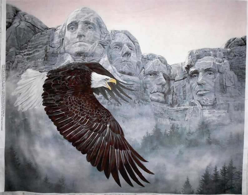 Fabric Panel-Spirit of the Forefathers/Eagle & Mount image 0