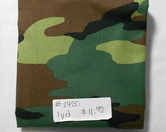 Fabric - 1yd piece-Camo by Whistler/Camouflage Green/Brown/Black -Army/Military/Outdoor/Wildlife/Hunter/Hunting(#2450) Windham  36383-1