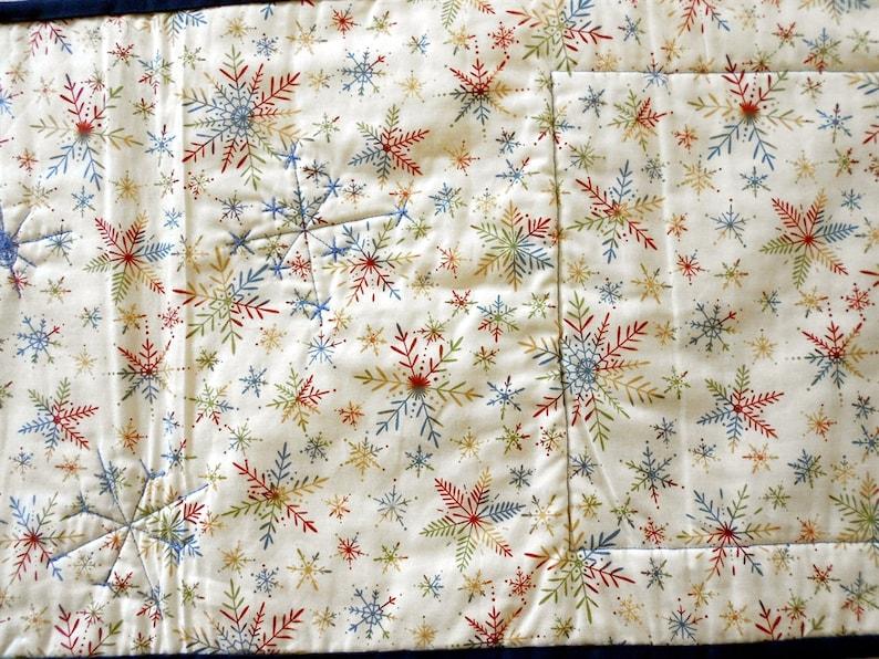 Old Fashioned Sleigh RideCream Center /& BorderMulti Colored Snowflake Back 13 x 38 ChristmasHolidayWinter Table Runner #R64