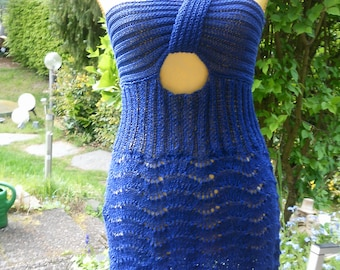 Knitted dress with crossed straps, GR 36-38 (S-m)