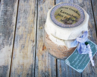 Lavender Hot Cocoa Mix ~ Hot Chocolate Mix ~ Lavender Hot Chocolate ~ Hot Cocoa Gift ~ Gluten Free