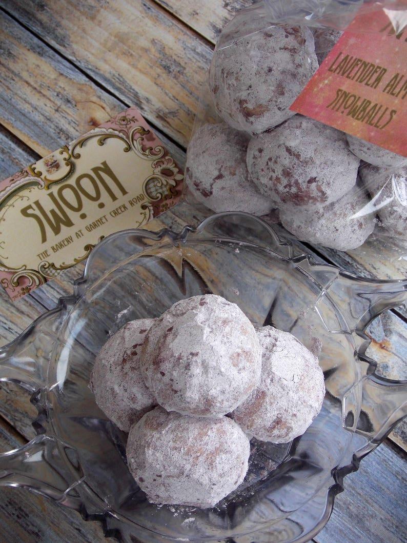 Lavender Almond Snowball Cookies 2 Dozen Russian Tea Cookies Mexican Wedding Cookies Danish Wedding Cookies Butterballs