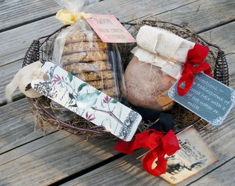 Mexican Hot Cocoa Mix ~ Shortbread Cookies ~ Hot Chocolate Gift ~ Foodie Gift ~ Cookies and Hot Chocolate