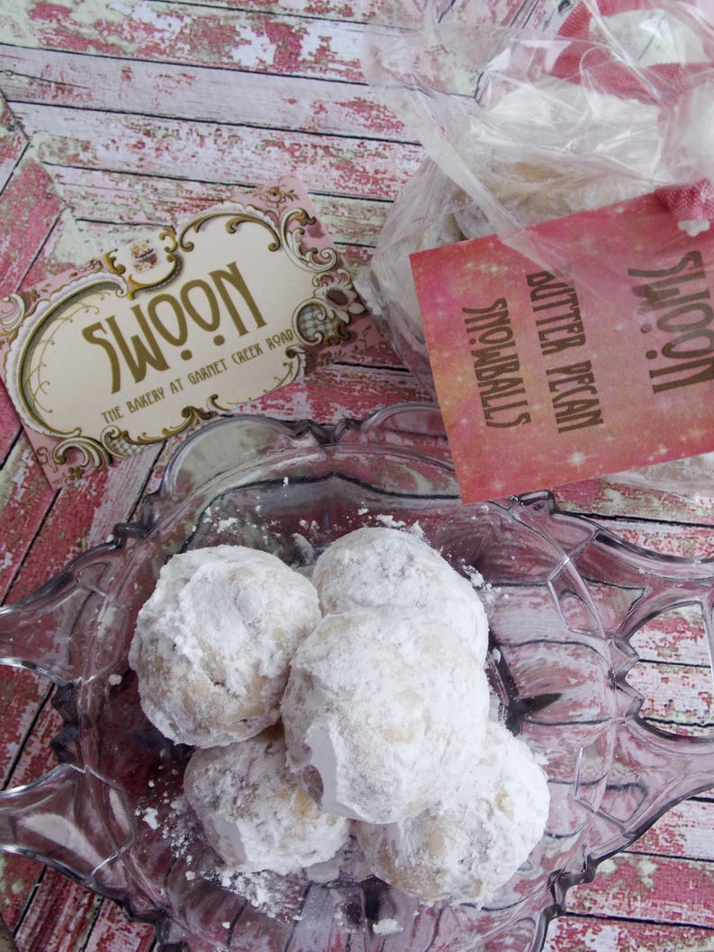 Butter Pecan Snowball Cookies Russian Tea Cookies Mexican Wedding Cookies Danish Wedding Cookies Butterball Cookies Bakery Cookies