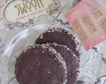 Chocolate Orange Cardamom Shortbread Cookie Gift Box ~ Chocolate Cookies ~ Chocolate Shortbread