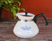 Vintage Blue Cornflower Corning Ware Tea pot