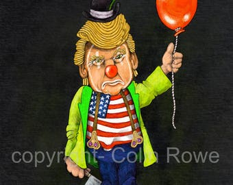 Scary Clown! A Giclee Limited edition artprint.
