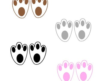 graphic relating to Printable Easter Bunny Footprints named Bunny footprint Etsy