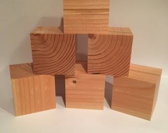 """1.5"""" Wooden Crafting Blocks, 1.5""""x1.5"""", 1.5"""" Cube, Crafting Supplies, Square block, Square Cube, Hand Made"""