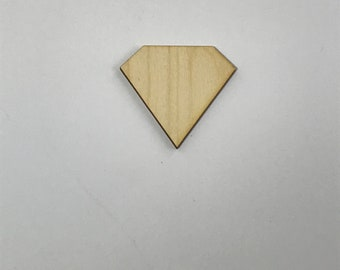 Diamond, Gem, Laser Cut Wood, Multiple Thickness, Sizes up to 60 Inches (5 feet), A303