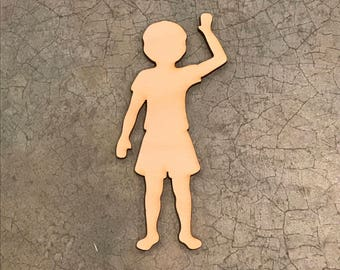 """Laser Cut Wooden Child, Children, Up to 16"""", Multiple Thickness,  Unfinished Wood Crafting Supply, A258, Crafting Supplies"""