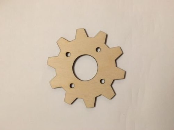 Crafting Supplies Set of 5 Wooden gears Unfinished Laser Cut Wood A029