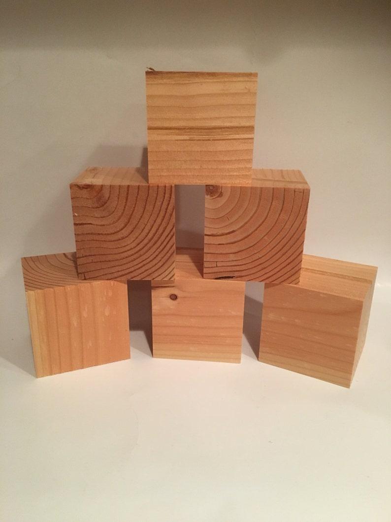 3 Wooden Crafting Blocks 3x3 3 Cube image 0