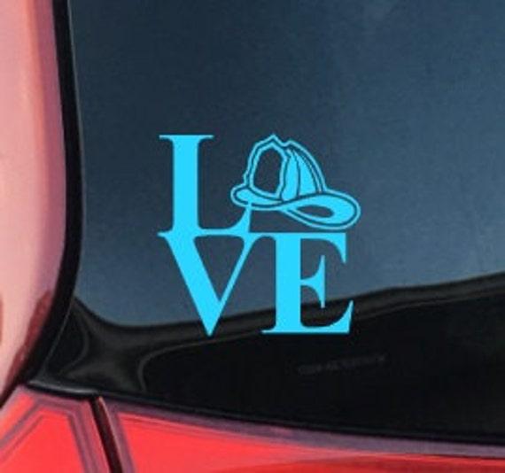 Fireman Love Car Decal