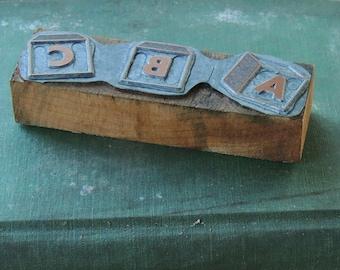 ABC Metal Stamp Block, Stampers, Nursery Stamp Block, Office Supplies, Scrapbook Supplies